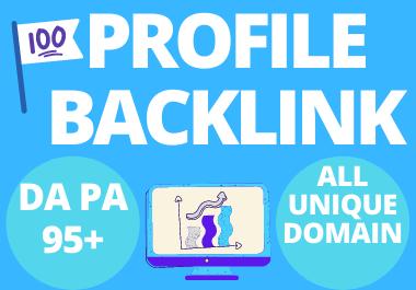 I will Create 150+ High DA PA Profile Backlinks