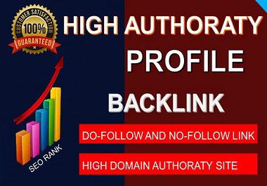 I will do high DA Authority Profile backlinks on authority website