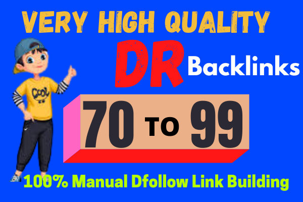 I will build DR20 high quality dofollow backlinks link building for seo service