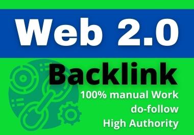 I will create 50 web 2 0 backlinks Manually