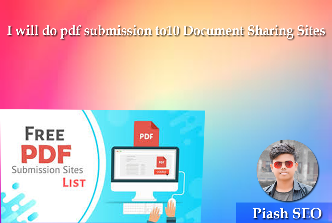 I will do pdf submission to10 Document Sharing Sites