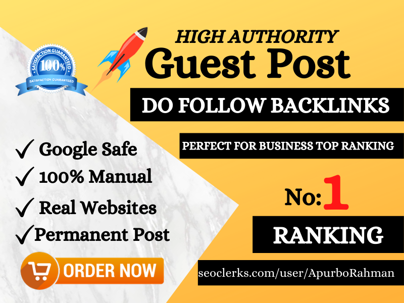 I will do 10 Guest Post Backlinks For Your Website