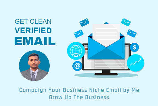 I will collect 5k clean,  verified targeted email list for your business