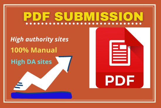 I will do 20 PDF submission backlinks manually in high rank da sites