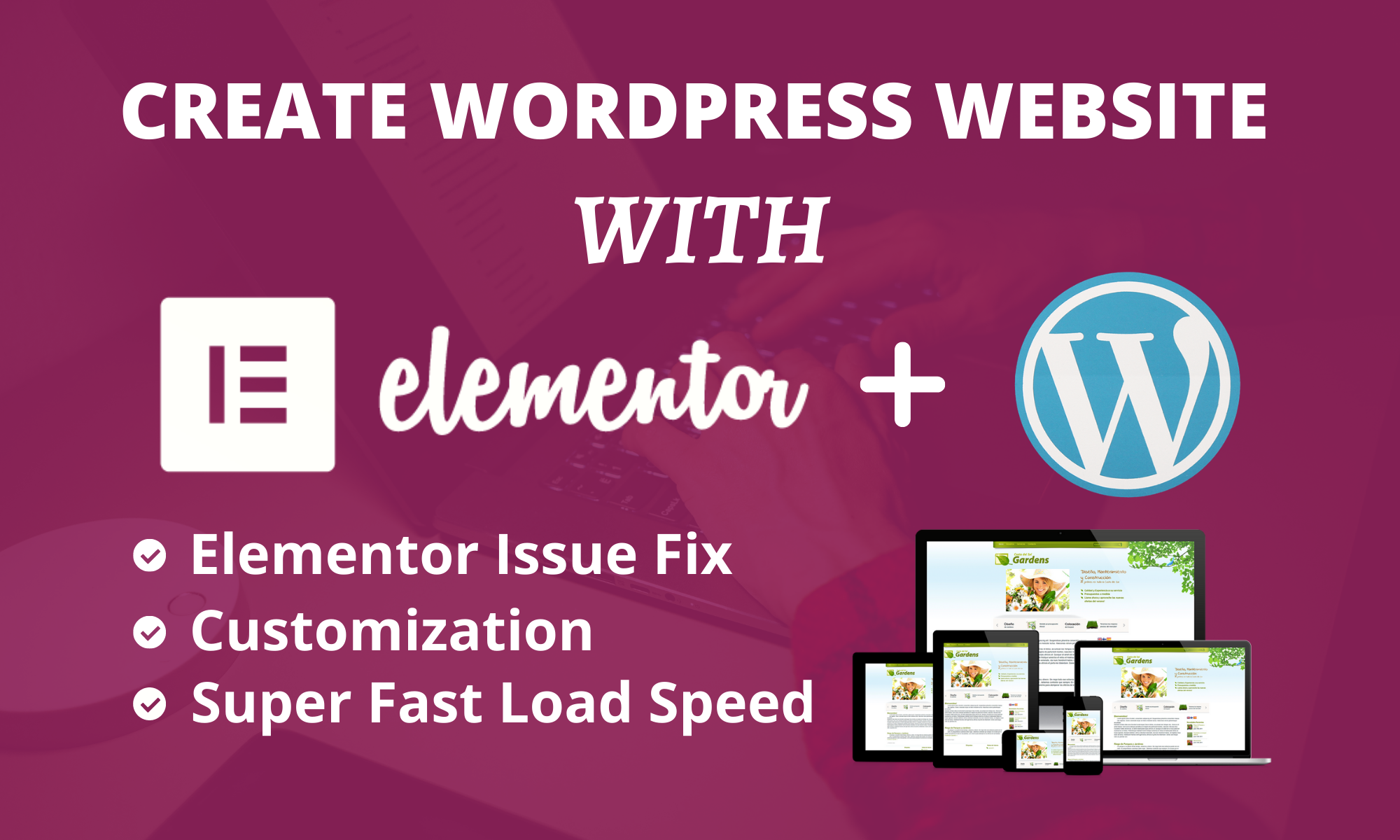 I will create a responsive wordpress website or landing page with elementor pro