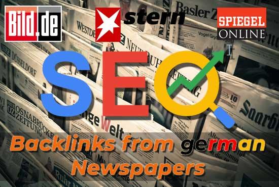 German backlinks from best german newspaper sites like bild,  stern,  focus and more