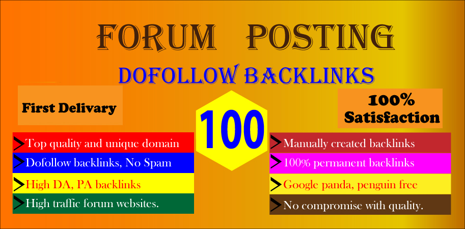 I Will Provide 60 Forum Posting On High DA PA sites For Ranking your website