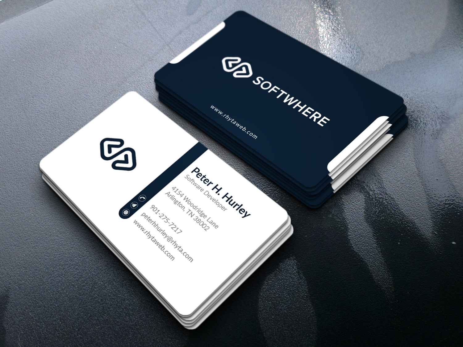 I will design unique dual sided business card print ready files