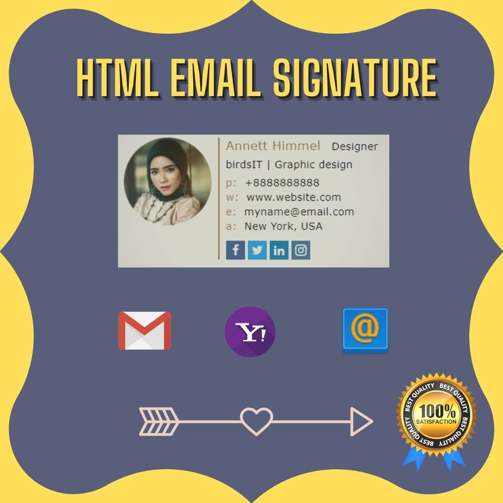 I will design eye-catching clickable email signature