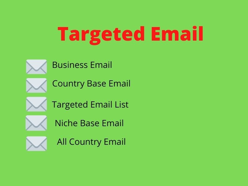 I will provide 1000 niche targeted email list