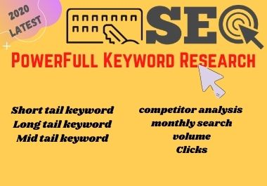 Targeted Keyword Research and Competitor Analysis