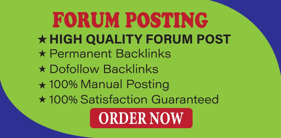 Provide 20+ Forum Posting High Authority SEO Backlinks