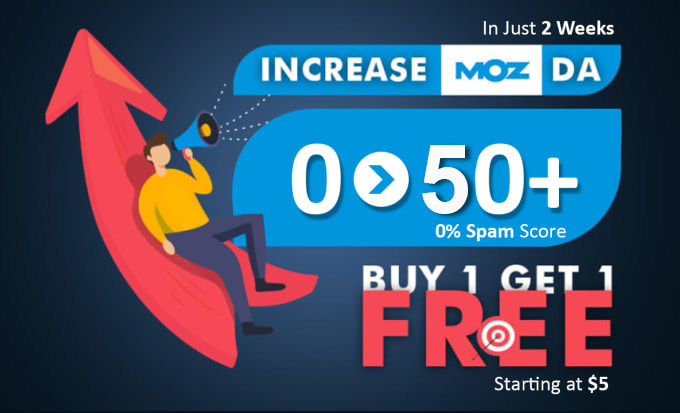 I will increase moz da domain authority up to 50 plus
