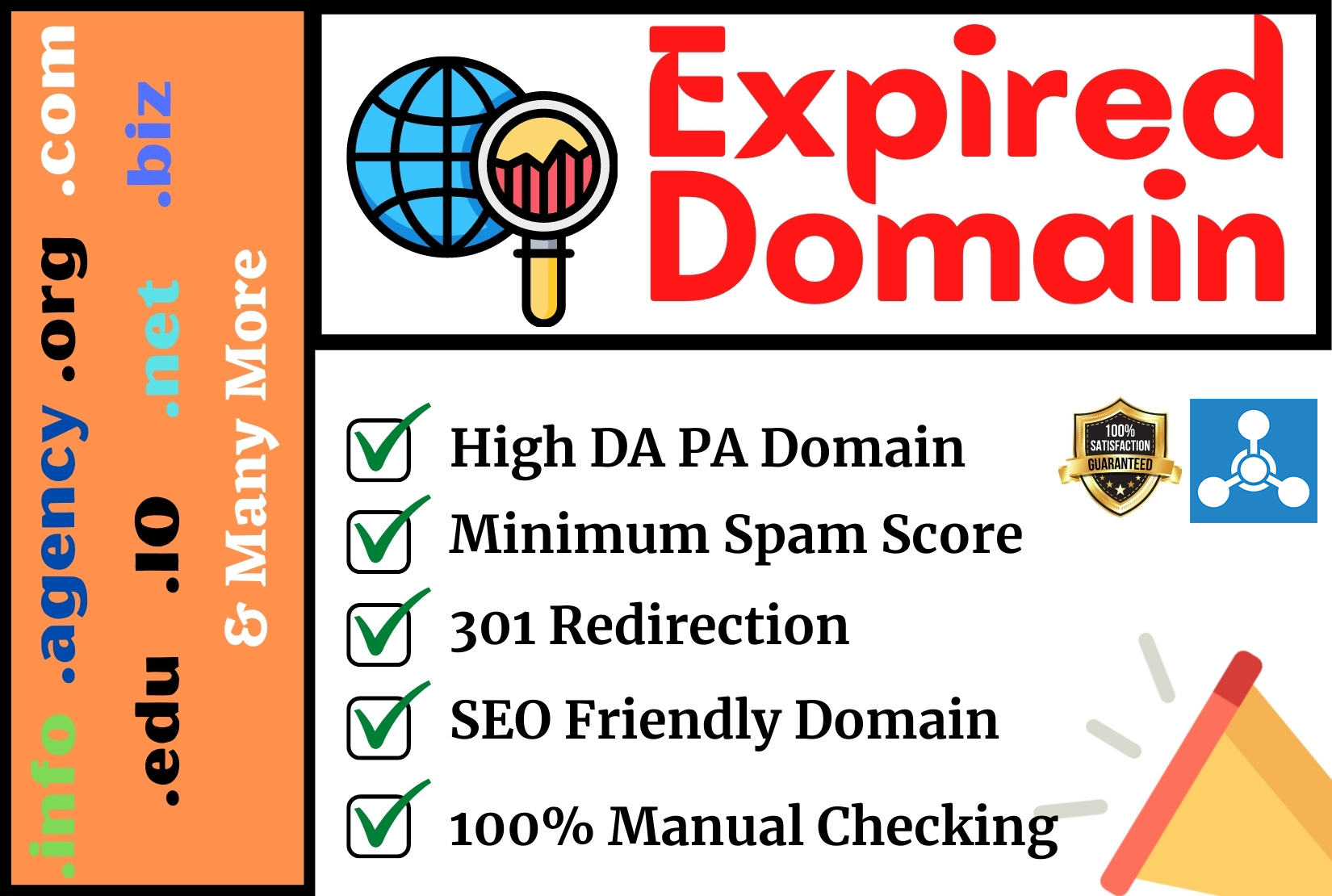 I will find high authority expired domain with 301 redirection