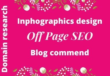 I will do off page seo and bloge comment