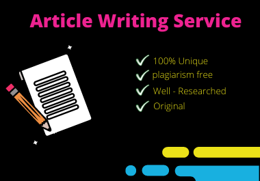 I Will Provide SEO Friendly 500 Word Articles and Content