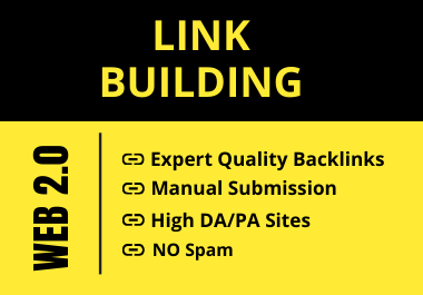 I will Provide 30 High DA/PA Manual Web 2.0 Backlinks