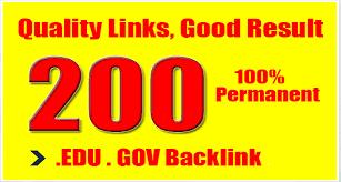 HQ 200 Edu and Gov Redirect Backlinks