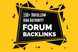 High Authority 150 Forum Profile Backlinks