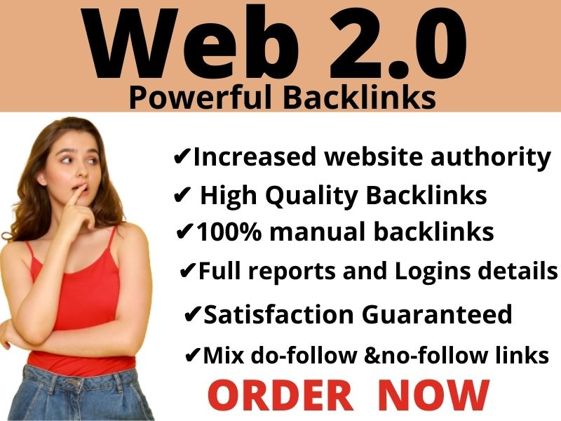 I create 5 high DA web 2.0 SEO Backlinks with in 24 hours to boost your ranking