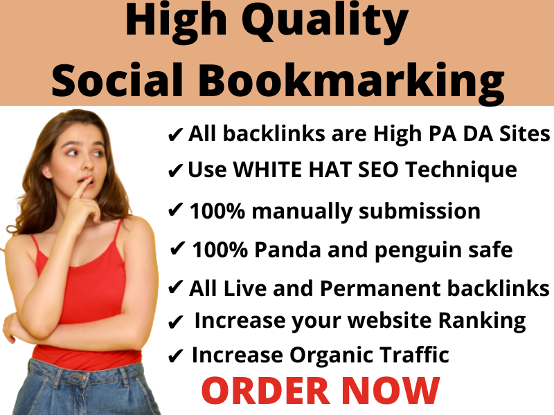 I Will Do 35 High Quality Social Bookmarking Backlinks For increase your website ranking