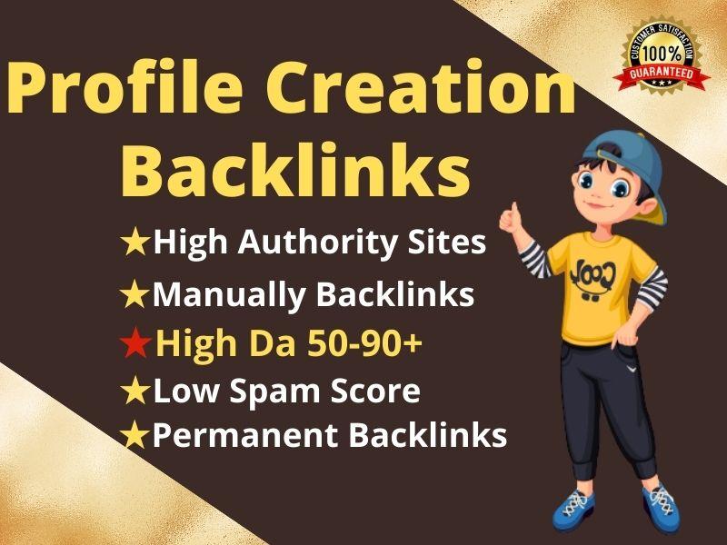 I will create manually 100 high-quality profile backlinks