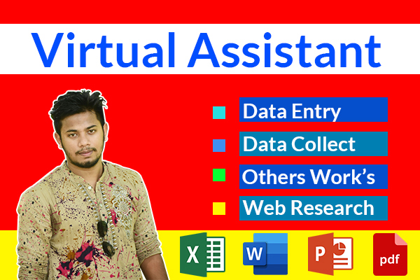 I will be your Virtual Assistant For manage project