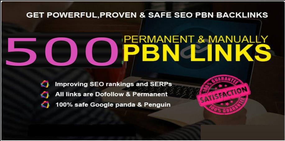 Total 500 Premium Website Home Page WEB 2.0 PBN Post DA 40+ exclusive Back-links with Unique Domain