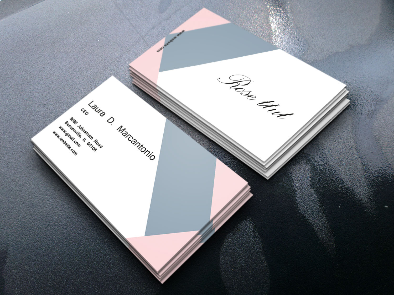 I will do minimalist business card for your business