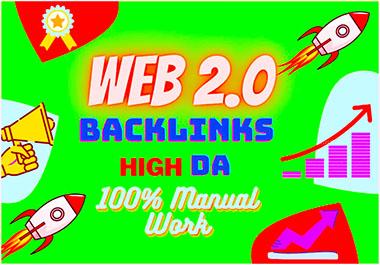 I will build 50 High DA Web 2.0 profile backlinks professionally