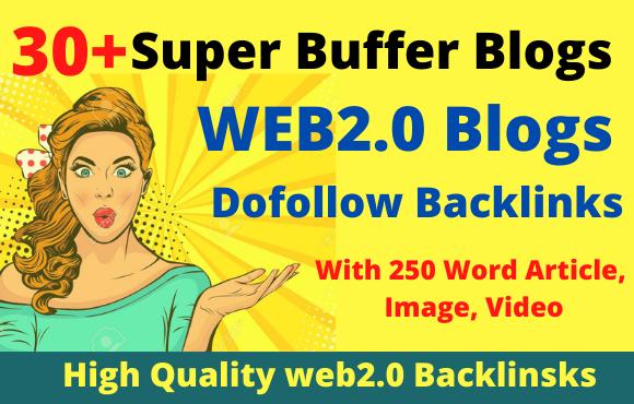 Create 30+ manual web2 0 super buffer blog high authority backlinks