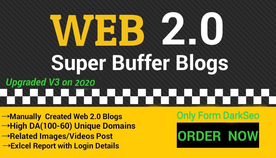 I will provide 20 super DA 52+ web 2.0 backlinks buffer blogs