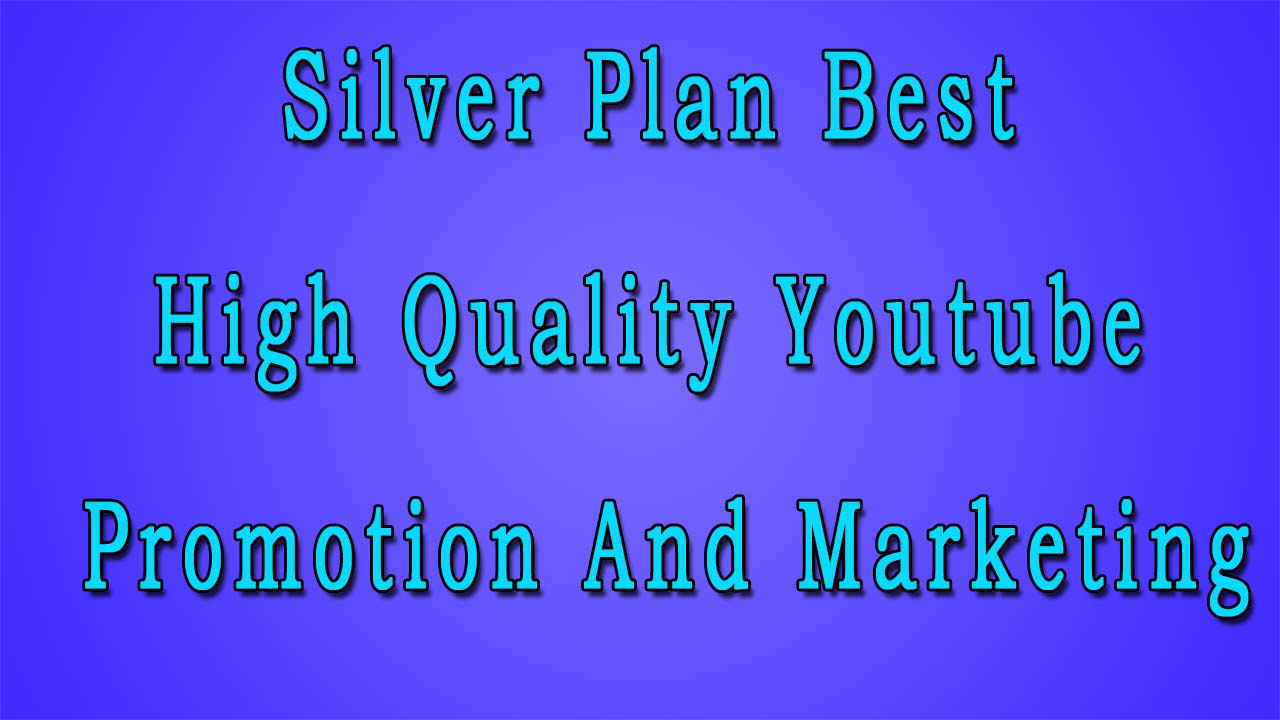 Silver Plan Best High Quality Youtube Promotion And Marketing