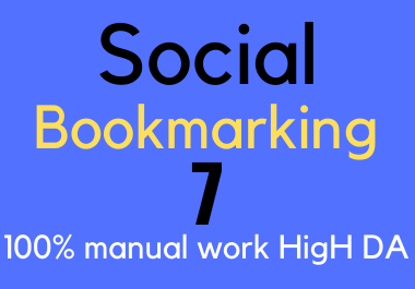 I will do 7 social bookmarking Submission on high DA