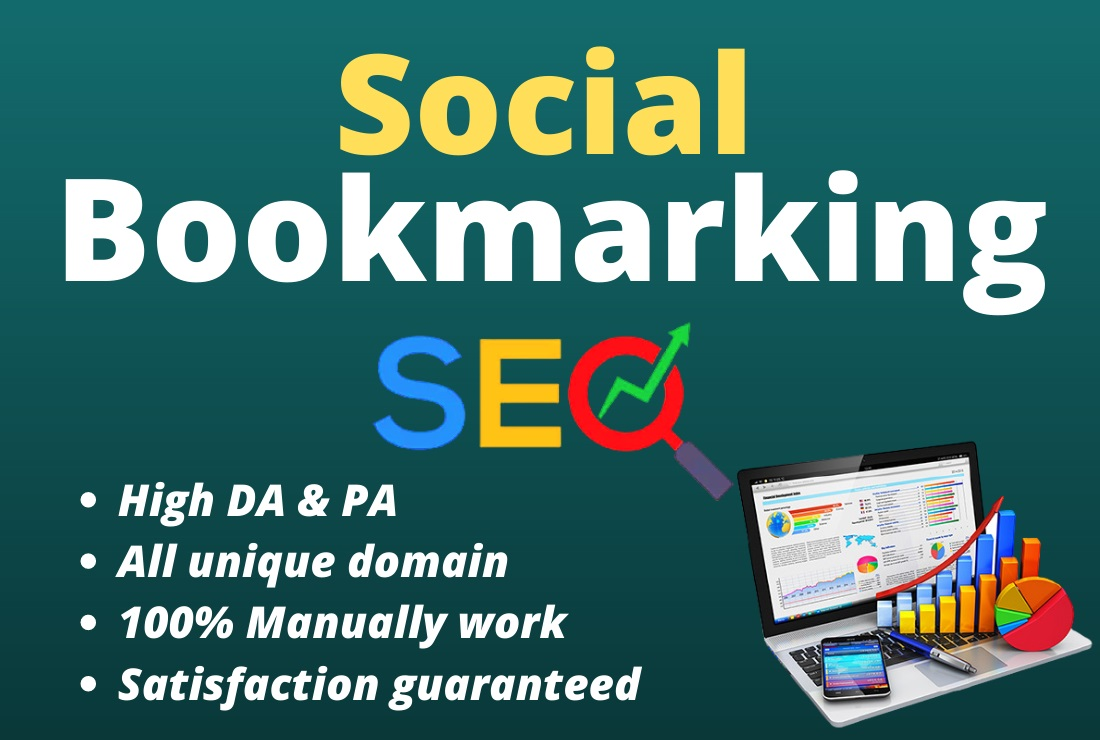 Manually 100 Top Social Bookmarking high DA & PA Backlinks