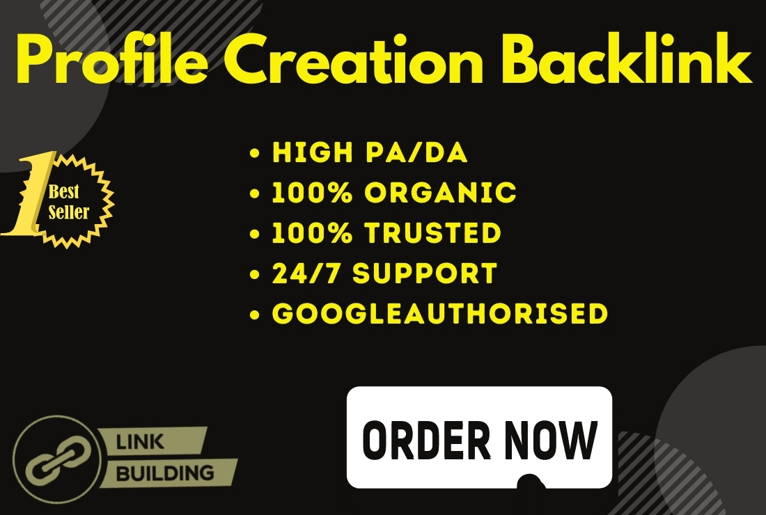 100 High Quality Organic Profile Backlink With High Da Pa Websites