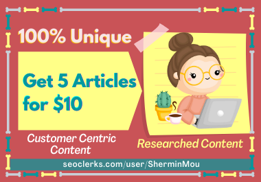 I will write high quality articles for your website