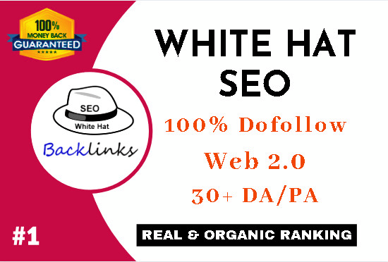 build 135 high quality dofollow white hat SEO backlinks
