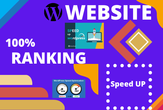 I will Provided speed optimization WordPress Website