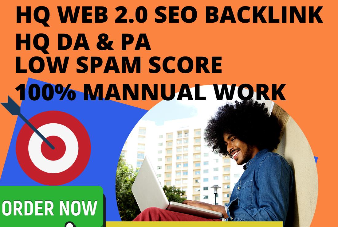 I will create manually 25 High-tech web 2.0 Backlinks to Enhance your Website.