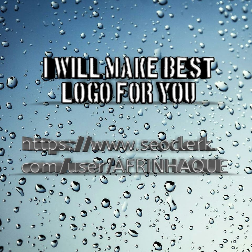 I will make best logo for you as your requirement.
