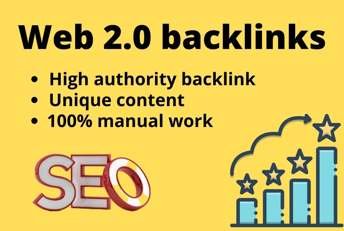 High quality 10 Web 2.0 blog post & backlinks