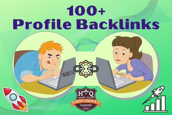 I will create 100+ Do follow High Authority Profile Backlinks