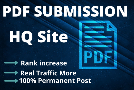 I will manually do 30 PDF submission on Top high authority Document Sharing Sites