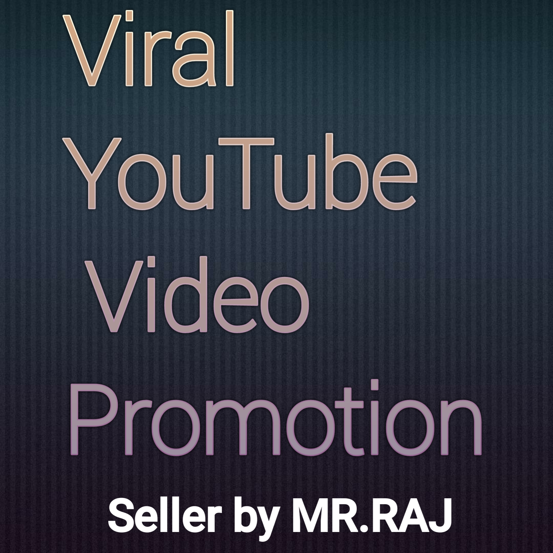 Great opportunity YouTube video promotion.