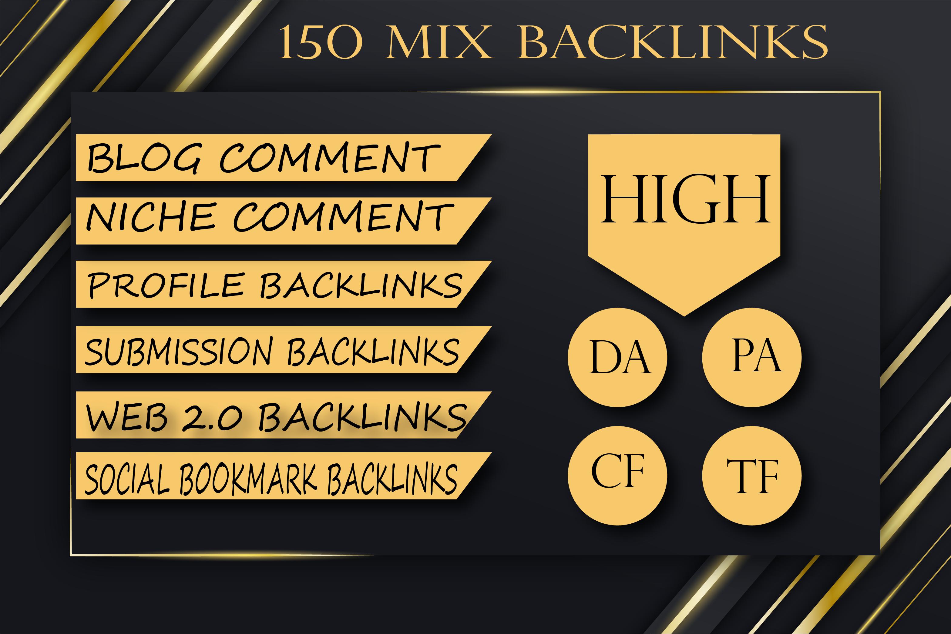 Build 150 MIX backlinks manual link building service for google top ranking