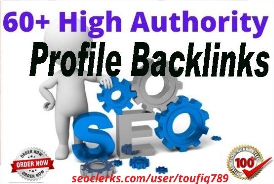 30 High DA profile backlinks dofollow whitehat manual SEO backlinks