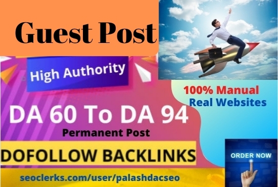 I will write and publish 5 guest posts from high DA websites