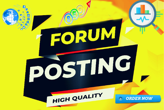 I Will Make 30 High Quality Forum Posting Backlinks