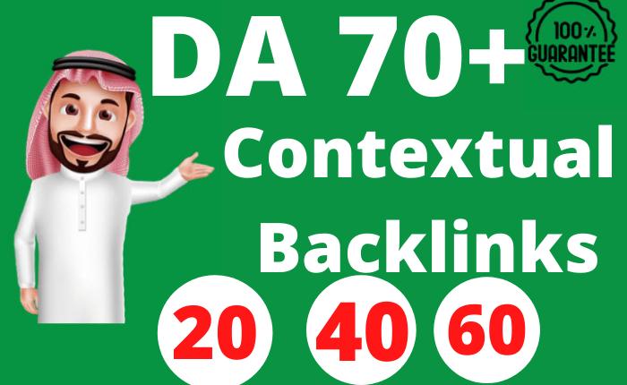 20 Contextual Backlinks SEO Dofollow DA 70 Plus Link Building